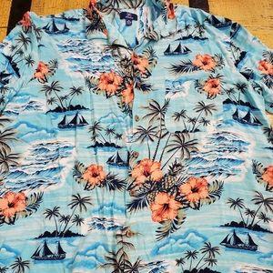 🤴👕🌺⛵🌴 George Tropical Dress Shirt size XL